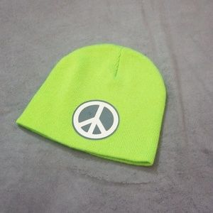 Accessories - Green peace sign hat